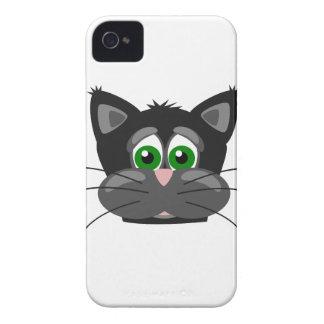 Carcasa Para iPhone 4 Gato negro de ojos verdes