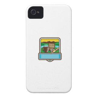 Carcasa Para iPhone 4 Grabar en madera del escudo del carrete de Rod de