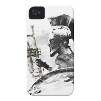 Carcasa Para iPhone 4 Guerrero de la trompeta