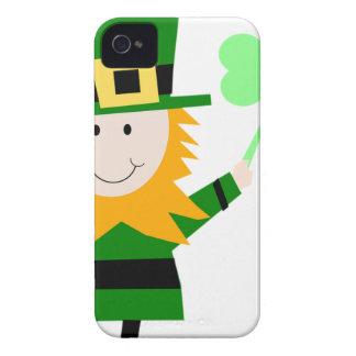 Carcasa Para iPhone 4 Hombre afortunado del trébol del Leprechaun