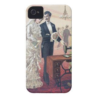 Carcasa Para iPhone 4 Ilustracion de novia y del novio del vintage