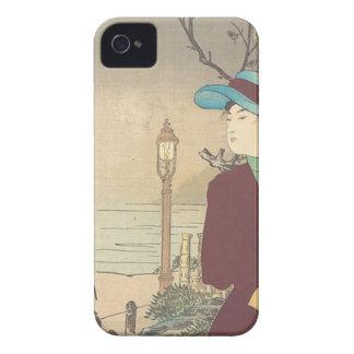 Carcasa Para iPhone 4 Impresión policroma japonesa del woodblock