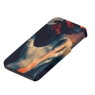 Carcasa Para iPhone 4 La señora pintada de la puesta del sol del