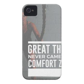 Carcasa Para iPhone 4 Las grandes cosas nunca vinieron de zonas de