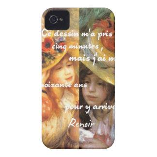 Carcasa Para iPhone 4 Las pinturas de Renoir son un montón de amor