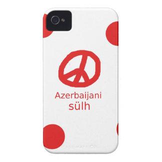 Carcasa Para iPhone 4 Lengua y diseño azerbaiyanos del símbolo de paz
