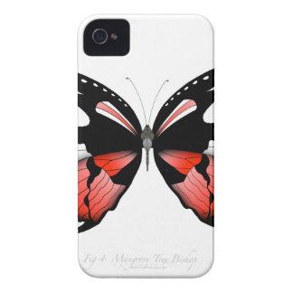 Carcasa Para iPhone 4 mariposa del rojo del higo 4 por los fernandes