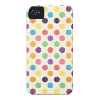 Carcasa Para iPhone 4 Modelo de puntos precioso VII