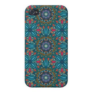 Carcasa Para iPhone 4 Modelo floral étnico abstracto colorido de la