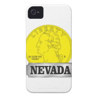 Carcasa Para iPhone 4 Moneda de oro de Nevada