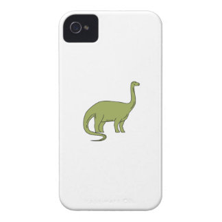 Carcasa Para iPhone 4 Mono línea del Brontosaurus