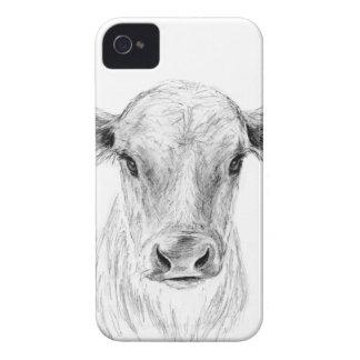 Carcasa Para iPhone 4 MOO una vaca joven del jersey
