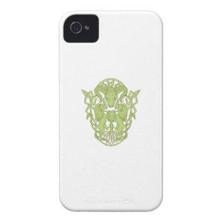 Carcasa Para iPhone 4 Nudo del Celtic del escudo de armas del árbol del