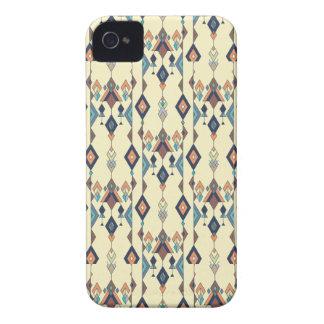 Carcasa Para iPhone 4 Ornamento azteca tribal étnico del vintage