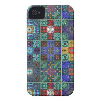 Carcasa Para iPhone 4 Ornamento de Talavera del mosaico del vintage