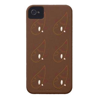 Carcasa Para iPhone 4 Ornamentos de Brown de la alheña de Mehndi.