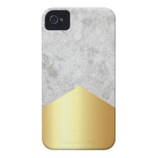 Carcasa Para iPhone 4 Oro concreto #372 de la flecha
