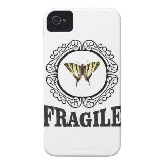 Carcasa Para iPhone 4 Pegatina frágil de la mariposa