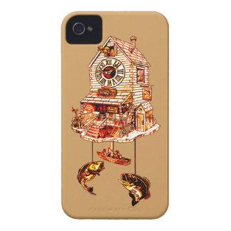 Carcasa Para iPhone 4 Pesca del reloj de cuco de la casa de campo