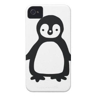 Carcasa Para iPhone 4 Pinguin blanco y negro simple