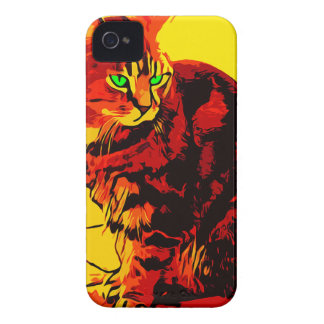 Carcasa Para iPhone 4 Pintura al óleo del gato