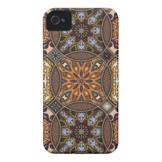 Carcasa Para iPhone 4 Remiendo del vintage con los elementos florales de