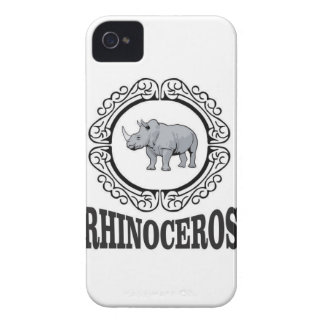 Carcasa Para iPhone 4 Rinoceronte en la taza