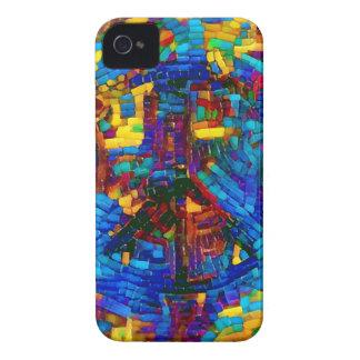 Carcasa Para iPhone 4 Símbolo de paz colorido del mosaico