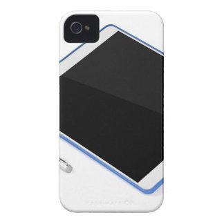 Carcasa Para iPhone 4 Tableta en soporte y pluma digital
