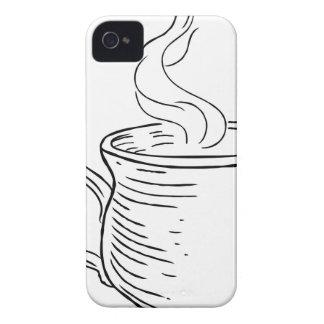 Carcasa Para iPhone 4 Taza de estilo grabado al agua fuerte retro del