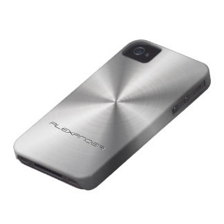 Carcasa Para iPhone 4 Texto de plata del Modelo-Personalizado del metal
