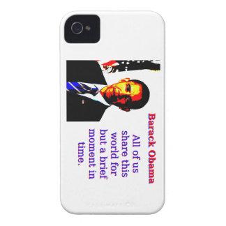 Carcasa Para iPhone 4 Todos nosotros comparten este mundo - Barack Obama