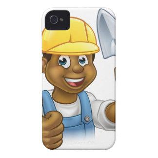 Carcasa Para iPhone 4 Trabajador negro del albañil del constructor con