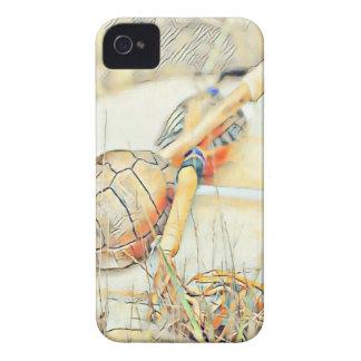 Carcasa Para iPhone 4 Traqueteo y tambor del clan de la tortuga