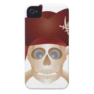 Carcasa Para iPhone 4 Tres cráneos con la bandera