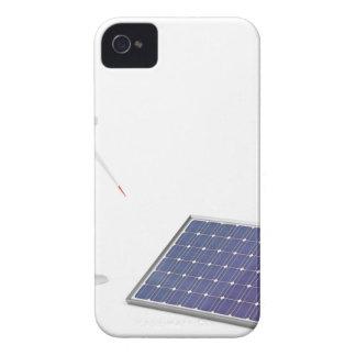 Carcasa Para iPhone 4 Turbina de viento y el panel solar