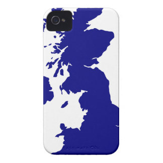Carcasa Para iPhone 4 U.K. y silueta de Irlanda del Norte