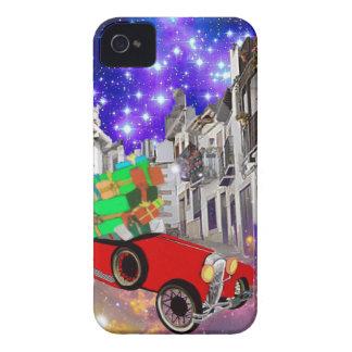 Carcasa Para iPhone 4 Un montón hermoso del coche de regalos bajo noche