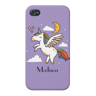 Carcasa Para iPhone 4 Unicornio del vuelo