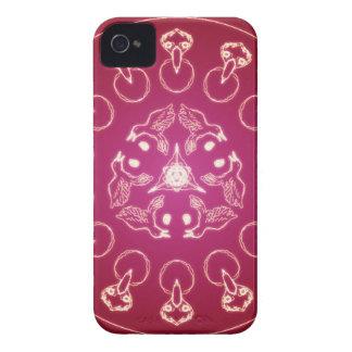 Carcasa Para iPhone 4 Uno mismo espiral pagano de Wicca del Pentagram