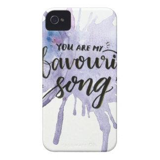 Carcasa Para iPhone 4 Usted es mi canción preferida