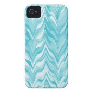 Carcasa Para iPhone 4 zigzag, acuarela, elegante, elegante