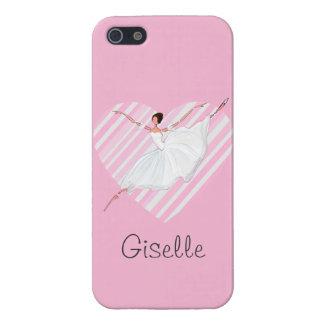 Carcasa Para iPhone 5 Baile en rayas rosadas - Castomizable de la