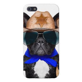 Carcasa Para iPhone 5 barro amasado del vaquero - vaquero del perro