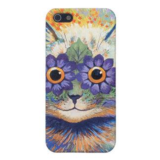Carcasa Para iPhone 5 Caja de la mota del gato de la flor del Hippie de