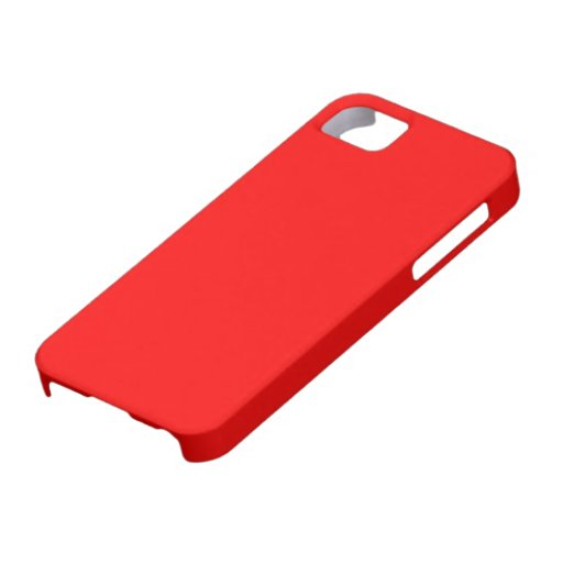 Carcasa para Iphone 5 color rojo iPhone 5 Coberturas