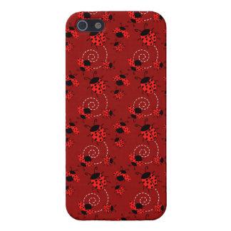 Carcasa Para iPhone 5 Pequeñas mariquitas rojas lindas