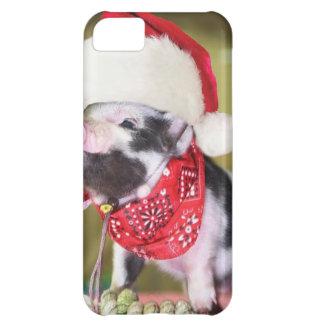 Carcasa Para iPhone 5C Cerdo Papá Noel - cerdo del navidad - cochinillo