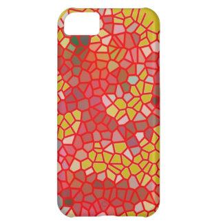 Carcasa Para iPhone 5C Cubierta roja y amarilla del crujido para el