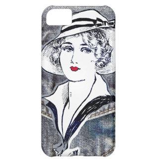 Carcasa Para iPhone 5C Dril de algodón/impresión de la moda de las